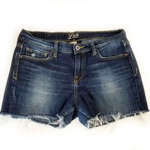 Lucky Brand Women's Denim Shorts 8  Distressed Med